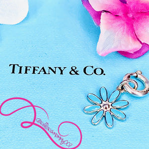 NWOT T&Co. Blue Flower Charm w/Round Clasping Link